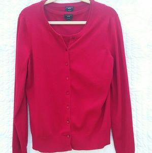 Talbots Red Cardigan Sweater Set Medium